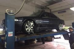 BMW 7 регулировка развала-схождения
