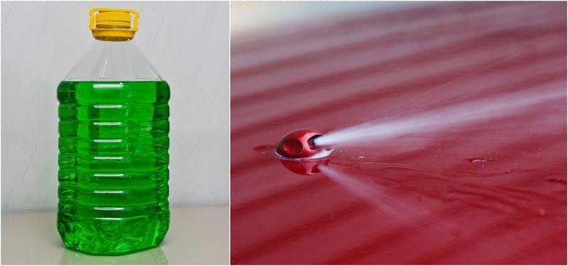 замена стеклоомывающей жидкости